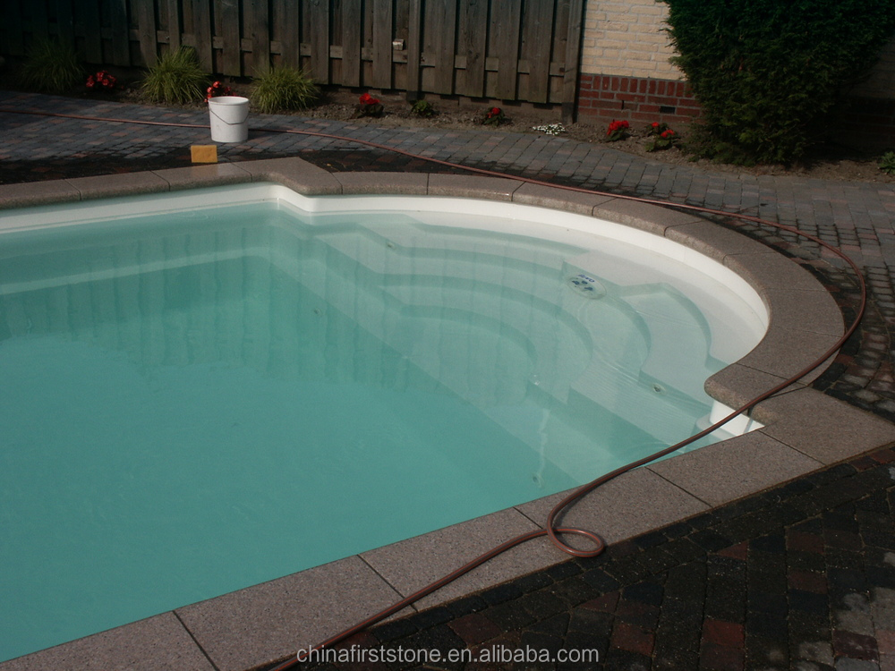 GCBY104 G682 Rust Granite Swimming Pool Inner Corner Border