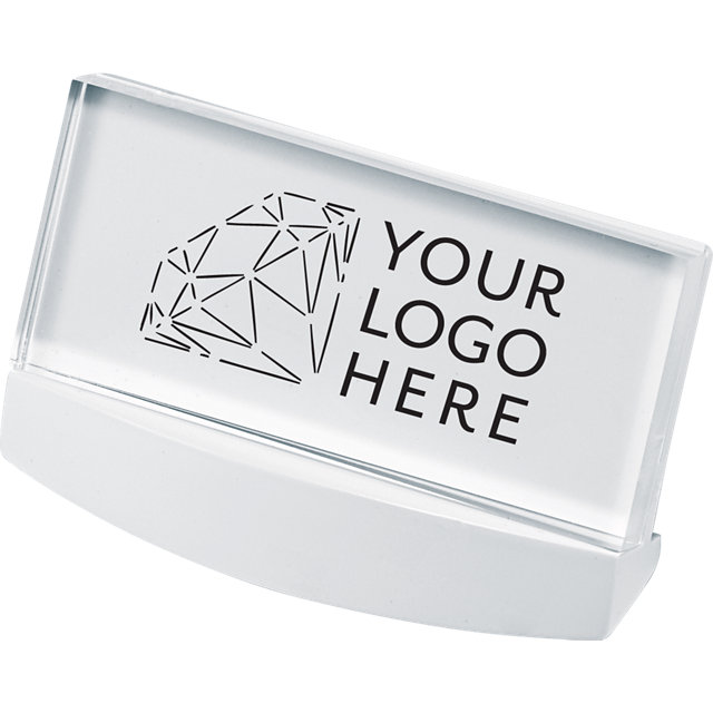 Acrylic logo block brand display