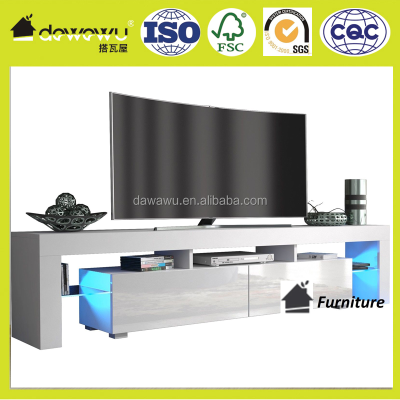 high gloss white lcd tv wall unit designs FREE LED RGB