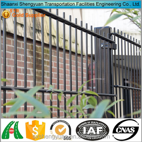 PVC Coated Garden Ornamental Double Wire Fence For Sale