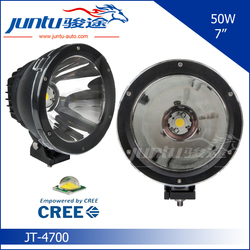 "2015 hot super bright light cannon 7"" round 12v 24v automotive led headlight cob light JT-4700 car led light 50w"