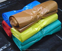 colourfull Plastic T-Shirt Retail / Grocery Shopping Bags w/ Handles