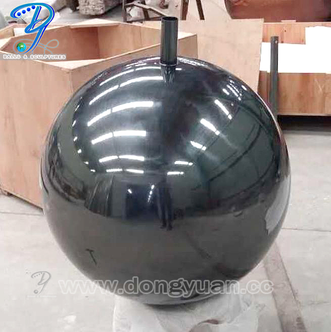 1000 mm Black Stainless Steel Gazing Spheres for Garden, Park Decoration