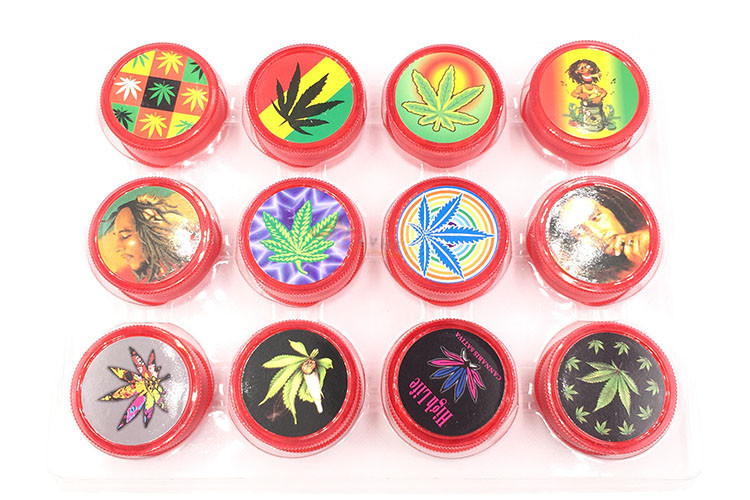 T026GP Tolly Smoking Tobacco Plastic Herbal Herb Tobacco Grinder Smoke Grinders