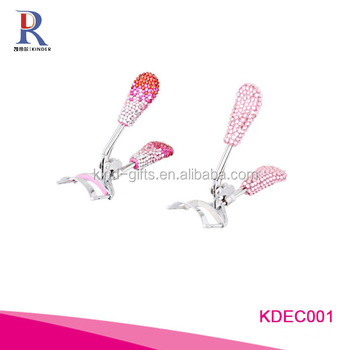 Bling bling colorful rhinestone decoration magic heated electric available eyelash curler