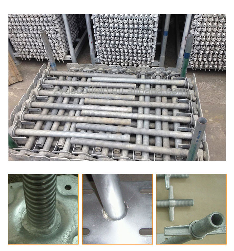 Galvanized Scaffolding Adjustable Base Plate