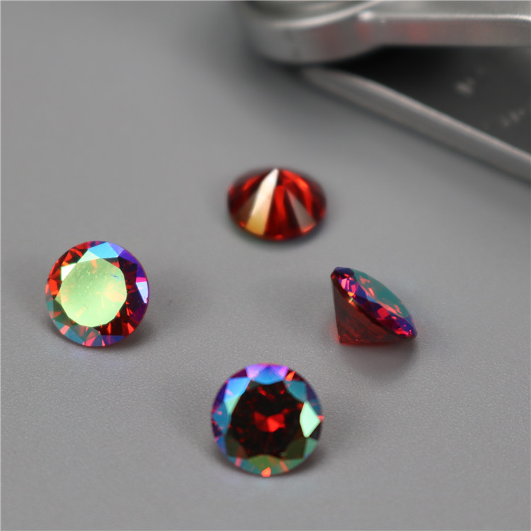 wholesale Incomparable Beautiful 1.0mm siam ab zircon gemstones very beautiful