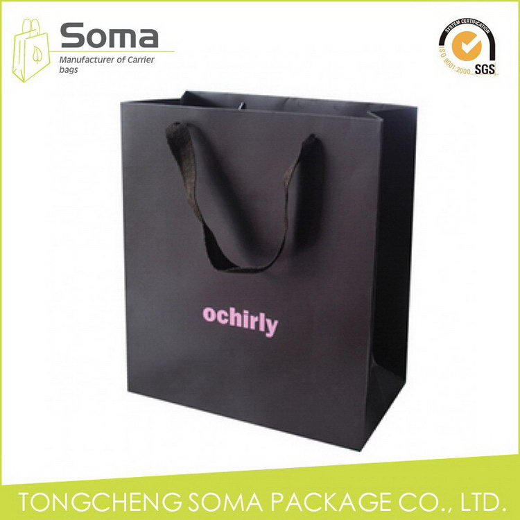 Competitive price hot sale logo printed paper shopping bags
