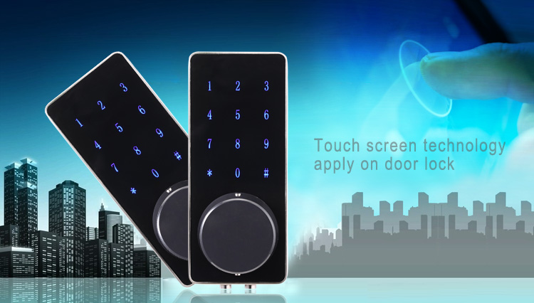 New bluetooth door lock touch screen digital lock