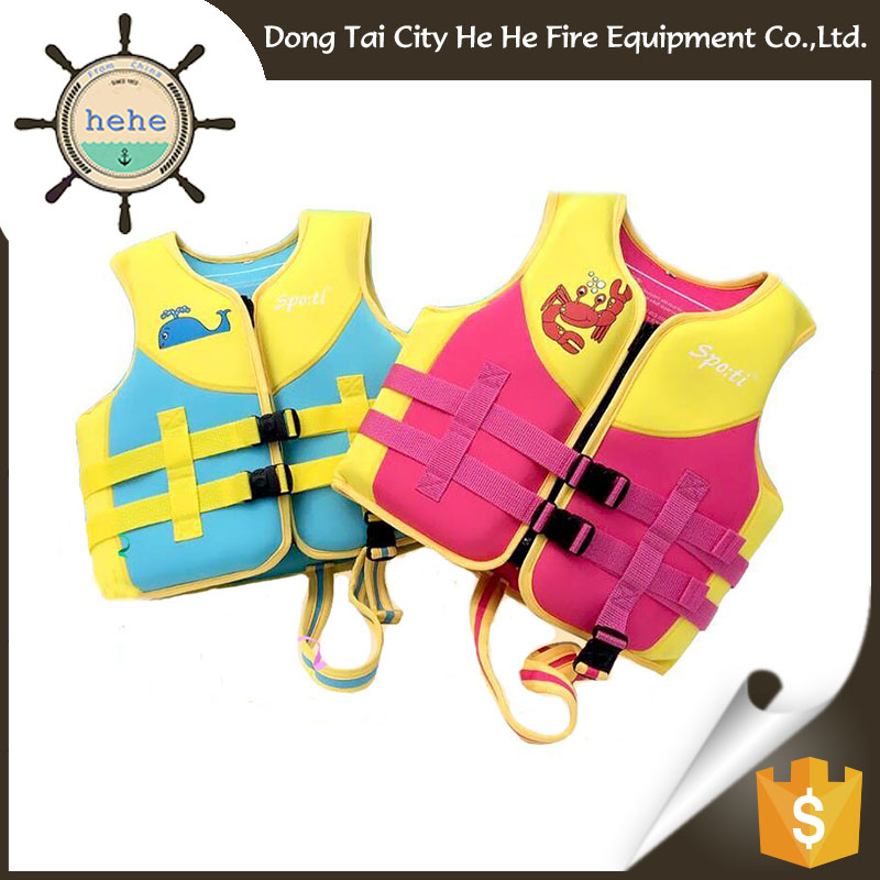 Modeling Beautiful Quality Neoprene boy Life Jacket Solas Approved