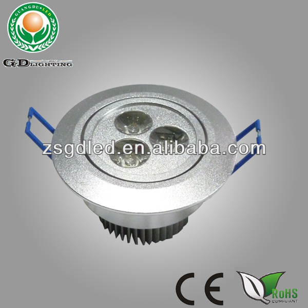 China manufacturer cheap 3W square led recessed ceiling lights