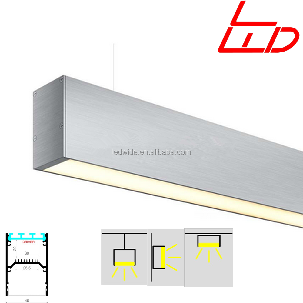 Newest hot surface mounted aluminum led profile with led for Eclairage exterieur led pour enseigne