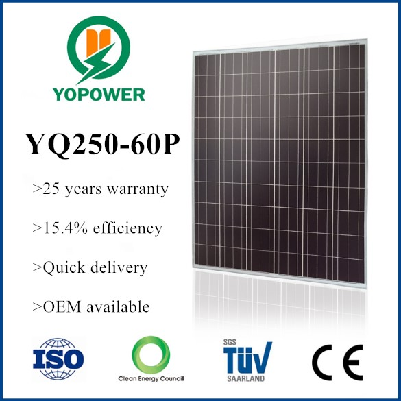 250w poly solar panel made in japan
