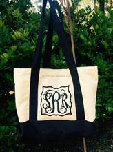 Wholesale Fashionable High Quality Monogrammed Tote Canvas Bag
