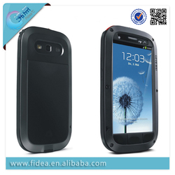 Excellent design Love Mei Aluminum Metal Case for Samsung Galaxy S3 waterproof Case