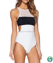 latex swimsuit/high cut one piece swimsuit/swimsuit women BLACK WHITE designed bikini sexy nude white