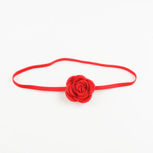 Wholesale Ribbon baby flower handmade hair accessories Top hot-sales mixed color baby ribbon headband kids hair
