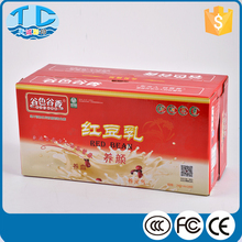 Color printed shipping paper cardboard 5 layer carton box for milk