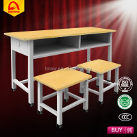 henan factory school table and chairs set cheap school desk and chair middle school desk and chair