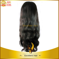 5A top grade natural hairline baby hair 18 inches long human hair wigs