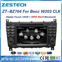 ZESTECH FACTORY OEM 7 inch 2 din CAR DVD for BENZ W203 (2004-2007) with GPS+CAN BUS+4 GB FREE MAP