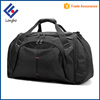 Hot products 2017 two big side pockets black duffel bag sturdy base flip opening shoulder tote low cost travel bag men