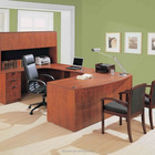 Classical Executive Laminte office furniture U-Shape desk Unit with Hutch and credenza