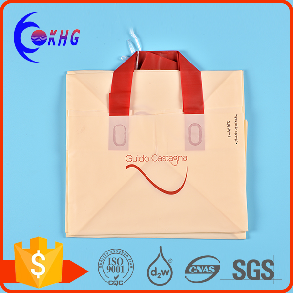 wholesale recyclable square bottom plastic bag for shopping