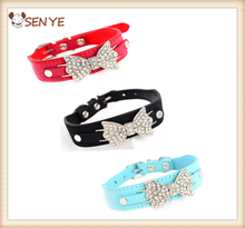 High Quality Lovely Pet Cat Dog Collar With PU Leather Buckle Color Can Be Choosed Fashion Design
