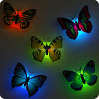 China hot sell Christmas Favor Luminous Led Light Up Butterfly Decoration led flower