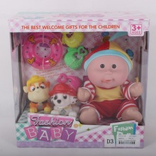 Promotional vinyl baby toy doll with 6 parts for kid