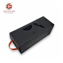 High end cube cardboard packaging paper wine box