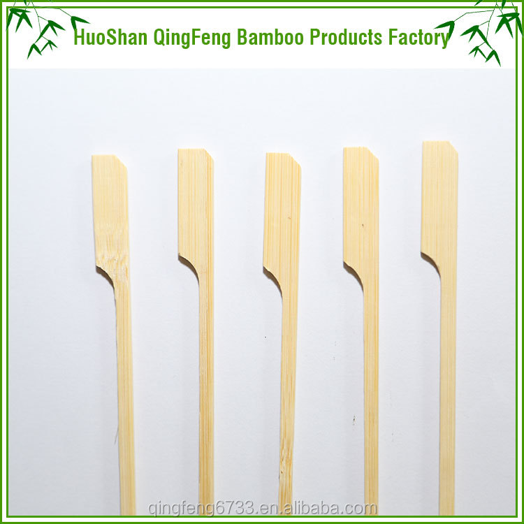 BBQ tools 15cm flexible bamboo paddle skewer/stick