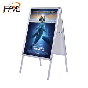Portable folding sign A-frame board display holder poster stand