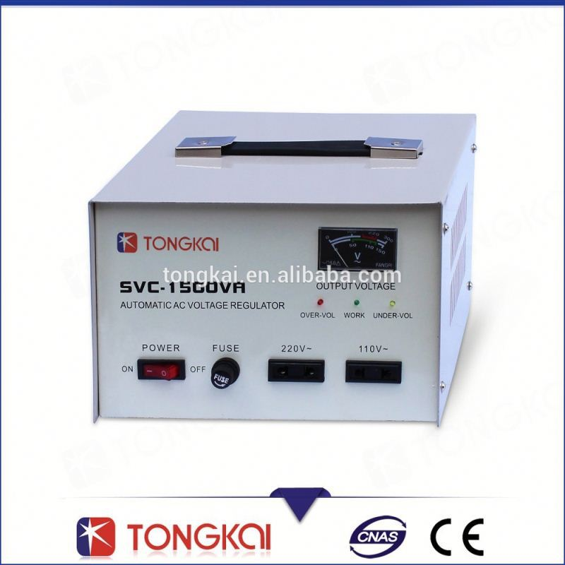 CE single phase 1500VA pure copper coil servo toyota voltage regulator