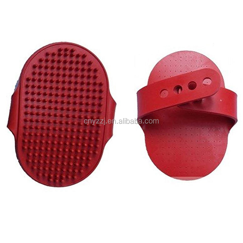 New Useful Comb Hair Grooming Oval Strap Bath Handle Rubber Soft Cat Silicone Pet Shower Removal Brush For Dog And Cat Brush