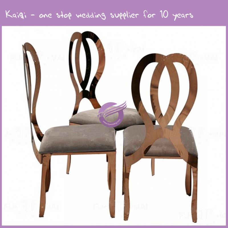 ZY00510 wholesale factory stainless steel modern Gold plated chair