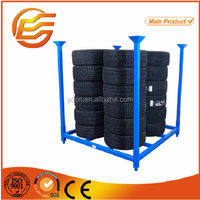 Powder coating collapsible semi trailer spare tire rack