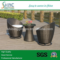 Save Pace High Loading PE Rattan Aluminum Balcony Coffee Set, Table And Chairs SOF2013