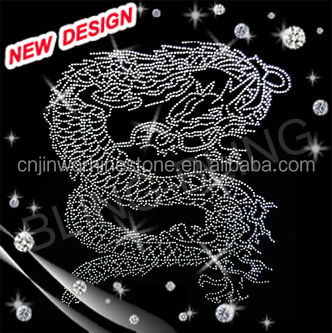 hotfix motif dragon rhinestone transfer iron on