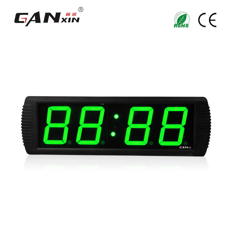"[GANXIN]4"" Green New Design Indoor Use Electronic Led Clock Wall Mounted/Desktop"