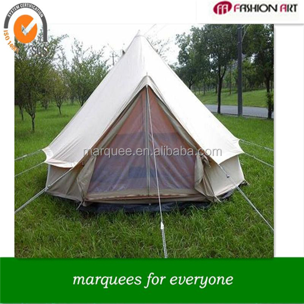 [ Fashionart ]2015 new production family/lover camping bell tent dia 6m marquee tent for big family party camping