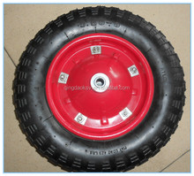 Small 14'x3.50-8 pneumatic rubber wheel with matel rim