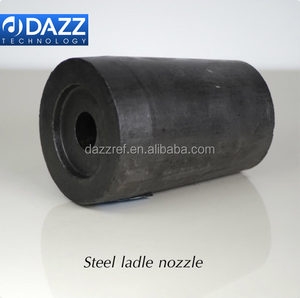 Steel ladle nozzle Tundish nozzle as functional refractory