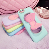 Bowtie Diamond Case with Stand 3d flip effect phone case for iphone 5s case