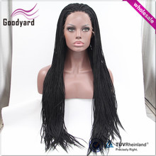 Wholesale chinese factory synthetic hair big box braid lace wig
