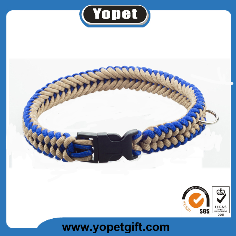 Popular-Sale Dog Braided Collar Rope Paracord Pet Collar