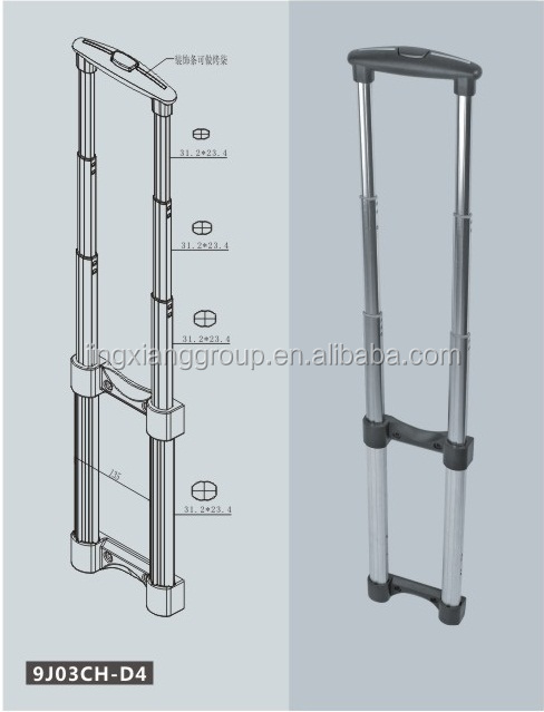 New Design Luggage Pull Handle Trolley Handle For Suitcase And School Bag Luggage Accessories