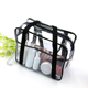 Wholesale transparent clear tote pvc toilet bag for women man