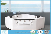 2015 New design indoor portable massage bathtub two person whirlpool massage bathtub free chinese tube